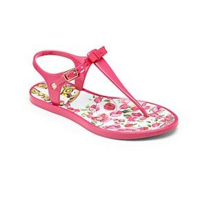 Dolce & Gabbana Pink Jelly T-Bar Sandals